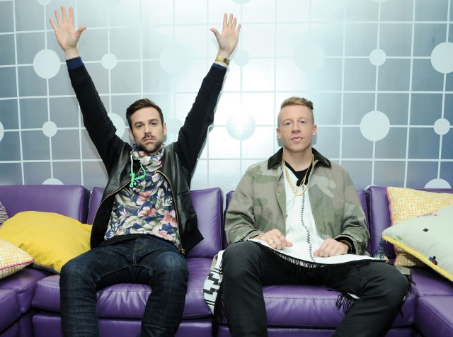 Macklemore & Ryan Lewis And French Montana Visit BET's 106 & Park